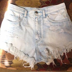 NWOT Highwaisted Distressed Hollister Jean Shorts